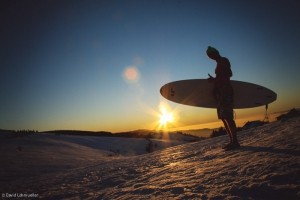 Snowsurfing for the Best Job In The World