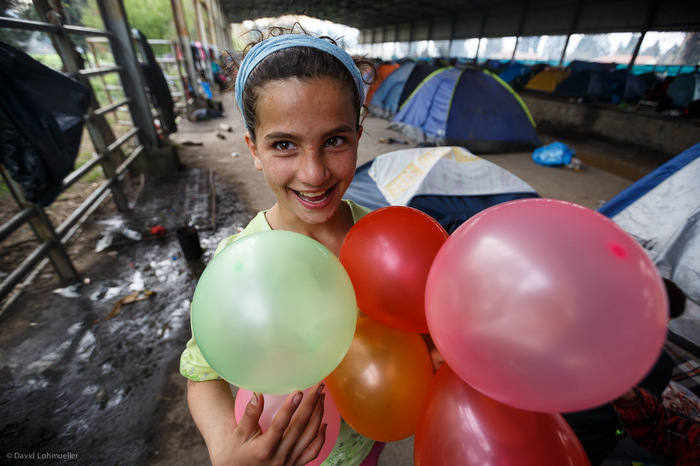 Birthday party in Idomeni