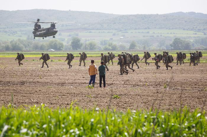 Military in Idomeni