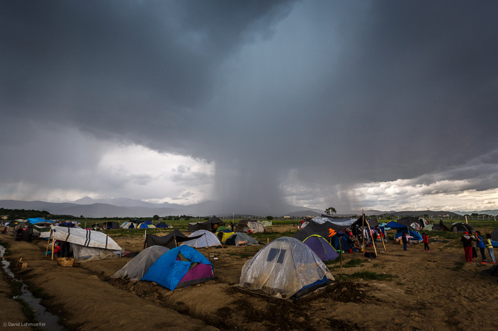 Rainstorm in Idomeni